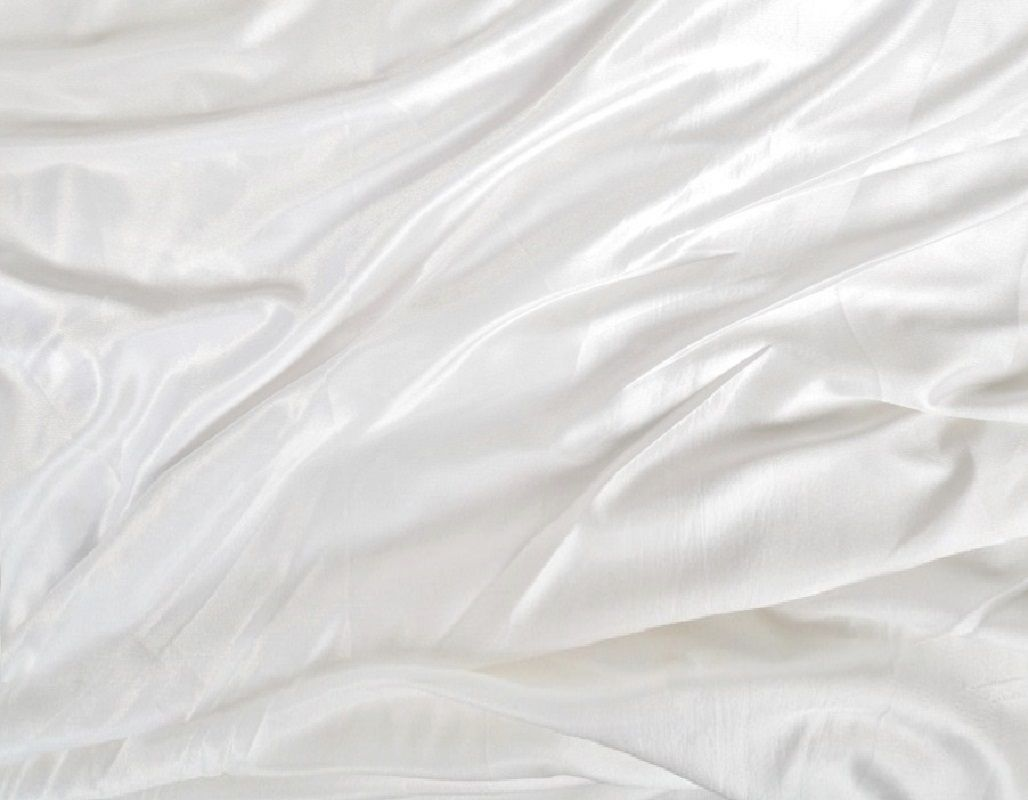 White Ice Silk Fabric Clarence Linen